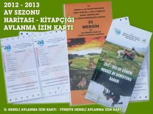 2012-2013 Avlanma İzin Kartı, Av Haritası ve Kitapçığı Geldi