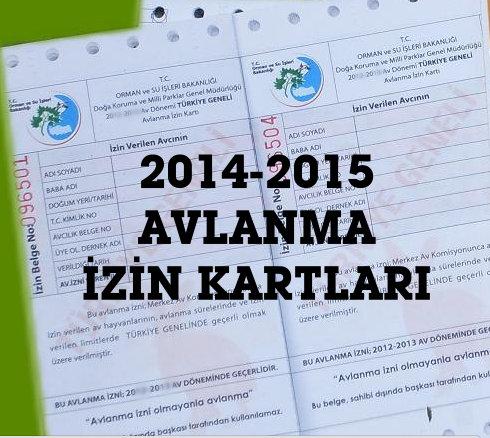 2014-2015-AVLANMA IZIN KARTLARI