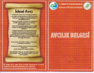 yeni avcilik belgesi 2013, avcılık belgesi 2013